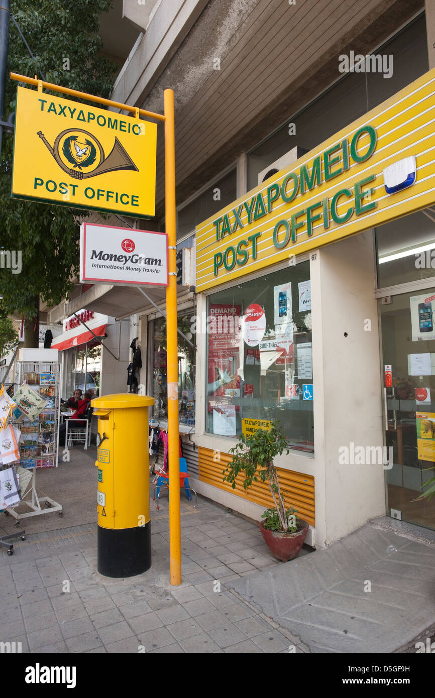 Post Office in Nicosia, Cyprus - Stock Image