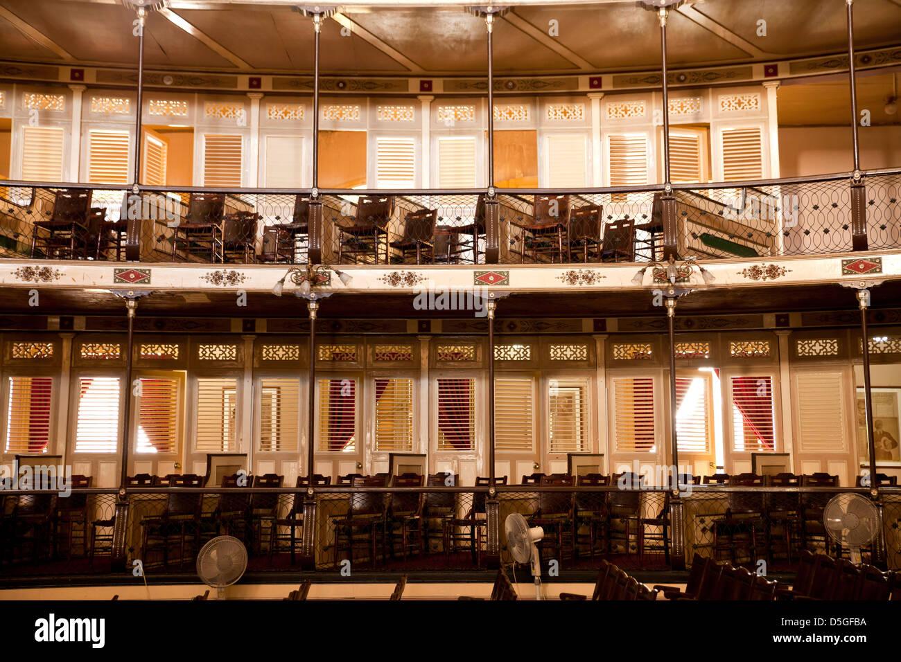 interior of the Theater Teatro Tomas Terry in Cienfuegos, Cuba, Caribbean - Stock Image