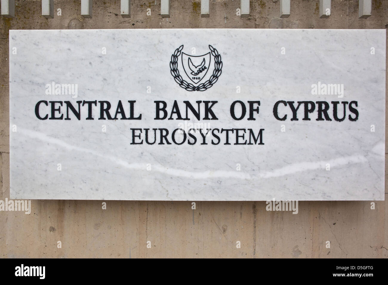 Central Bank of Cyprus, Nicosia, Cyprus - Stock Image