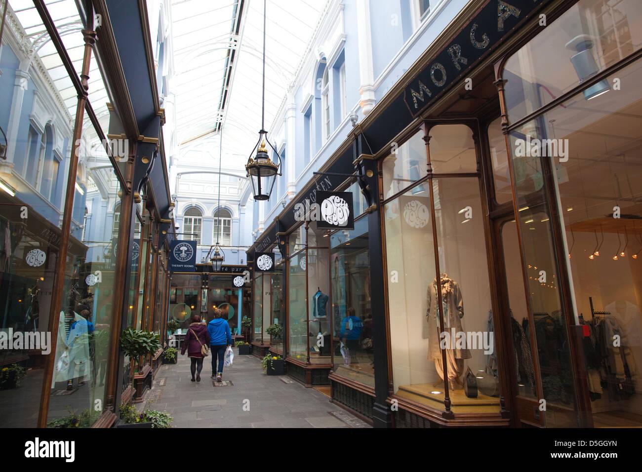 Morgan Arcade, Cardiff city centre, Wales, UK - Stock Image