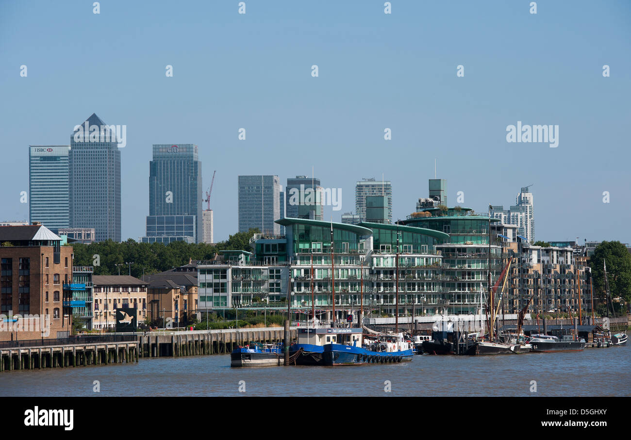 View Of The River Thames In Front Famous London Skyline England