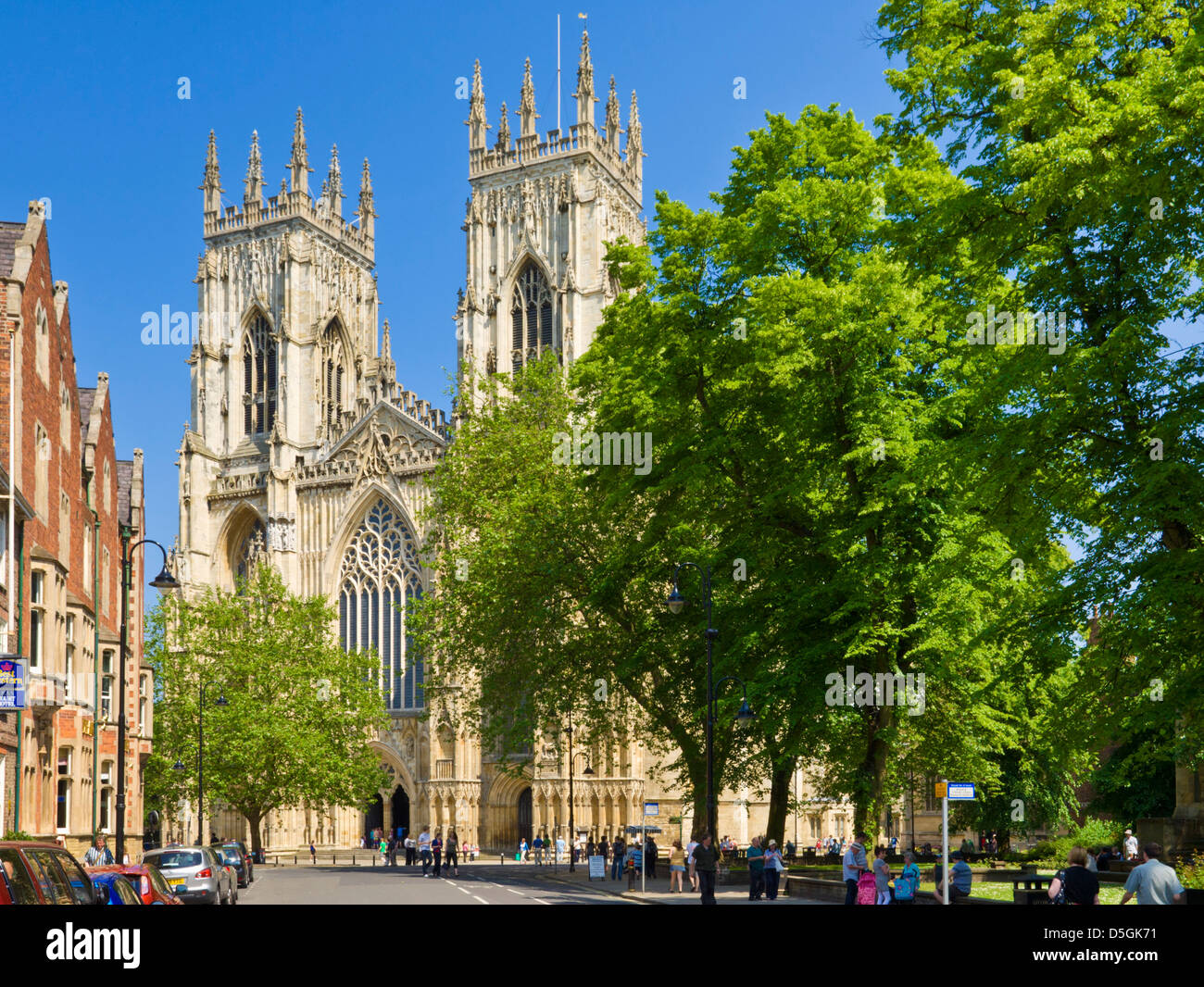 York Minster, Gothic cathedral, city of York, Yorkshire, England, UK, GB, EU, Europe - Stock Image