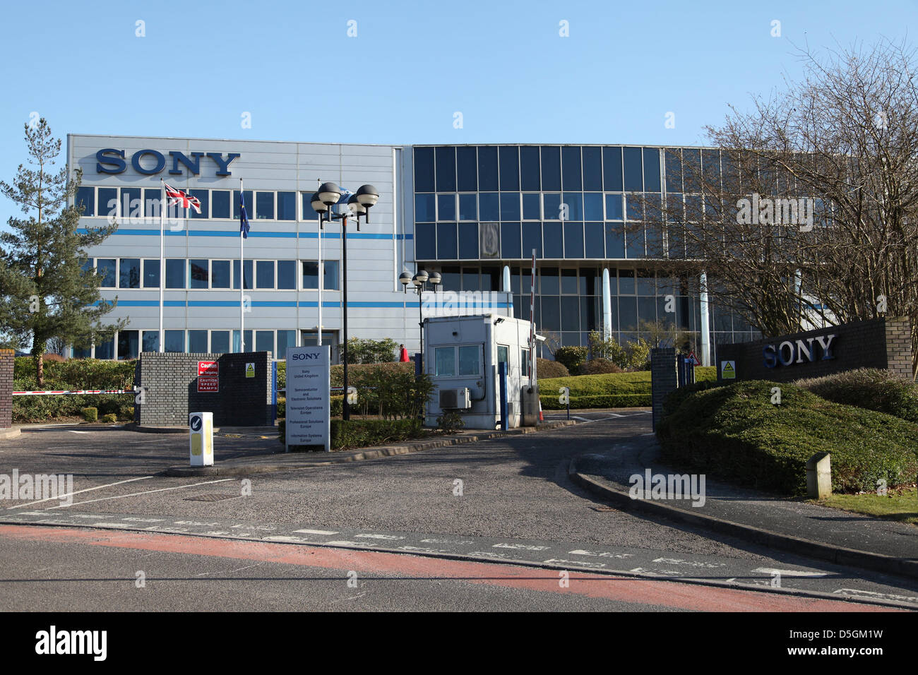 Basingstoke,UK. 2nd April 2013 - A general view of the Sony Europe offices in Basingstoke, where Hawk-Eye Innovations - Stock Image