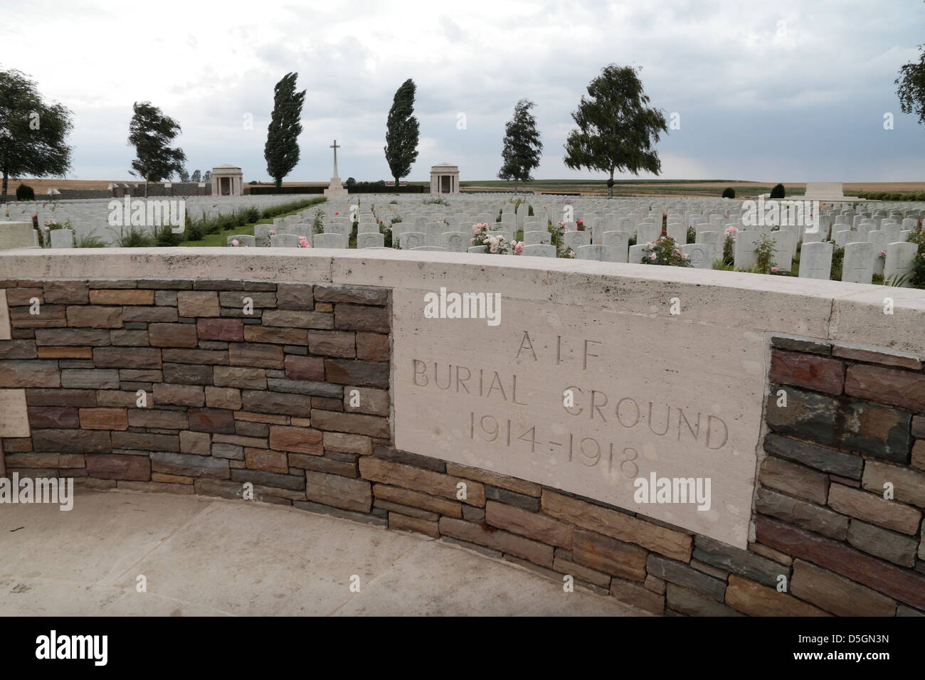 entrance wall to the a i f burial ground a commonwealth cemetery