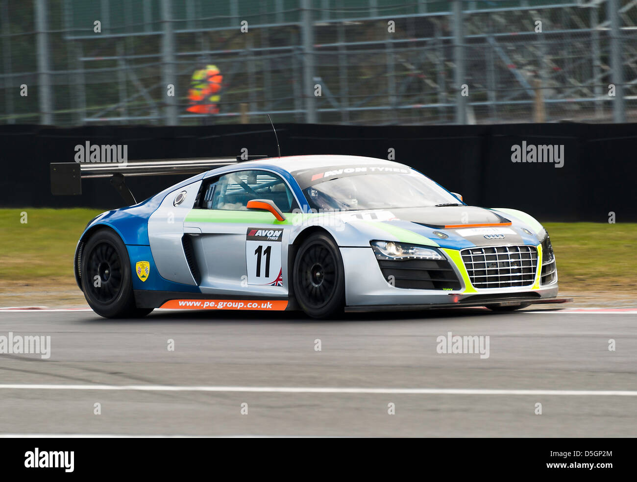 Audi R8 LMS Sports Racing Car In British GT Championship At Oulton Park  Motor Racing Circuit Cheshire England United Kingdom UK