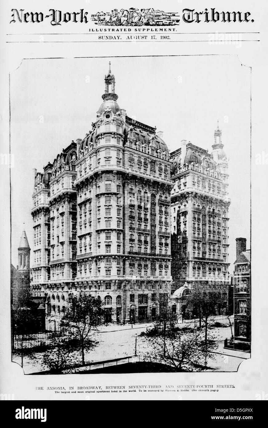 The Ansonia, in Broadway, between Seventy-third and Seventy-fourth Streets (LOC) - Stock Image