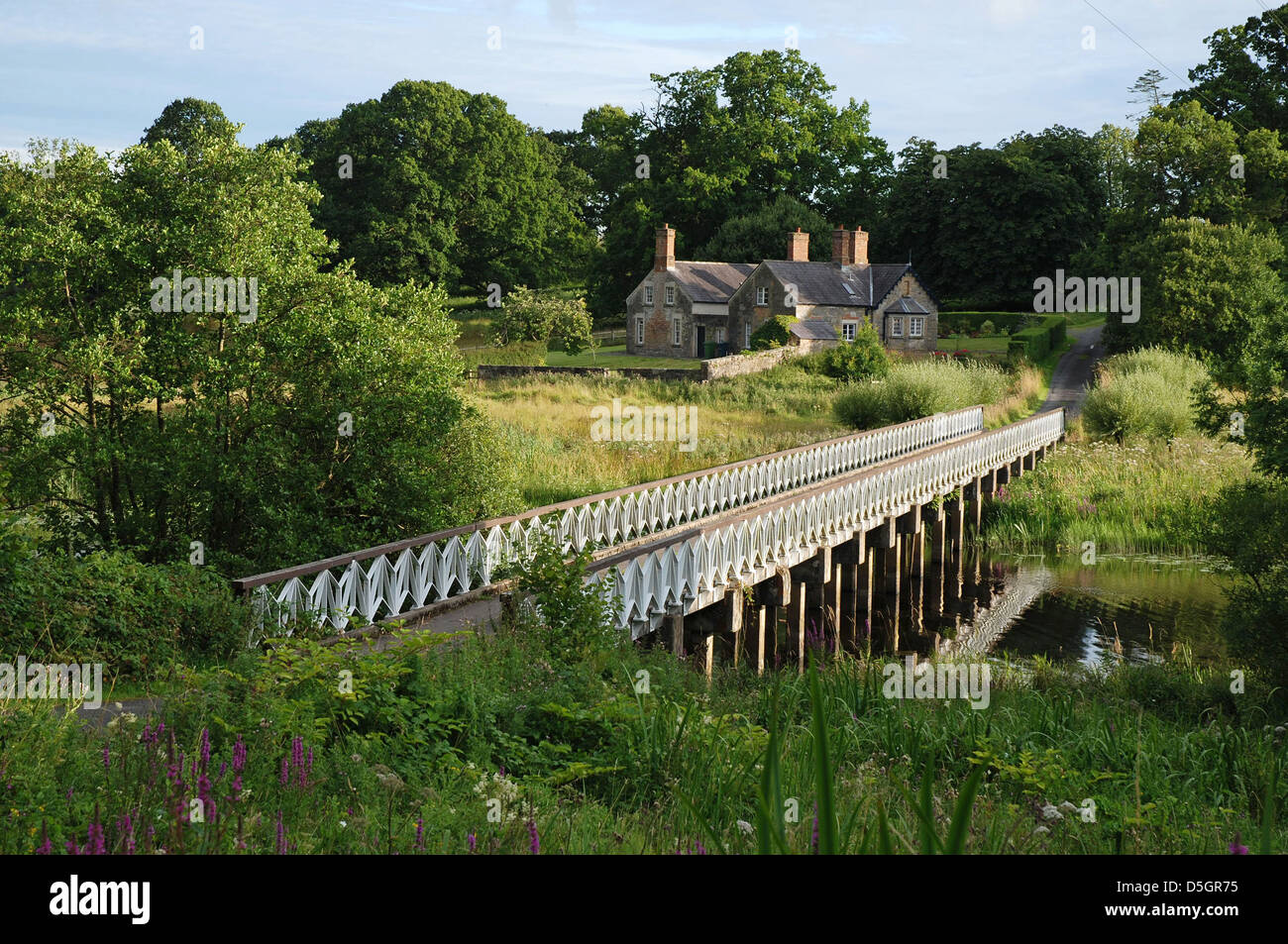 White Bridge, Crom Estate, Upper Lough Erne, County Fermanagh, Northern Ireland - Stock Image