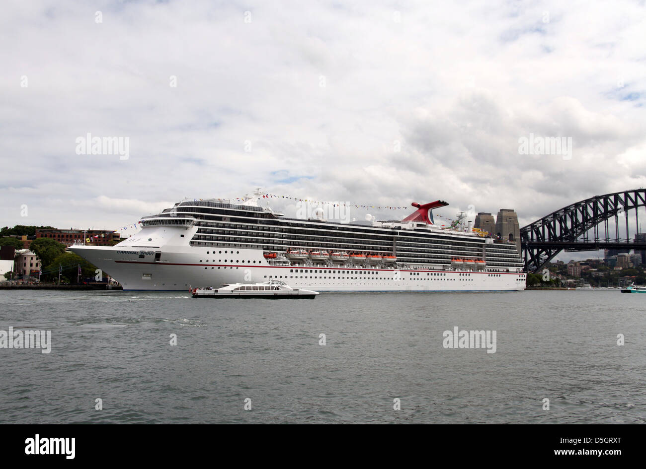 Carnival Spirit Cruise Ship berthed in Sydney Harbour Stock Photo