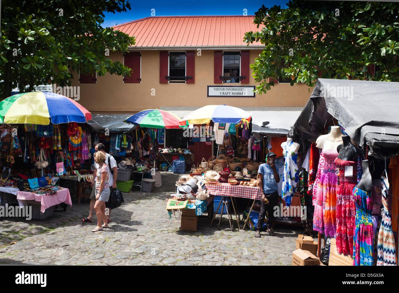 dominica roseau old market stock photo 55076094 alamy
