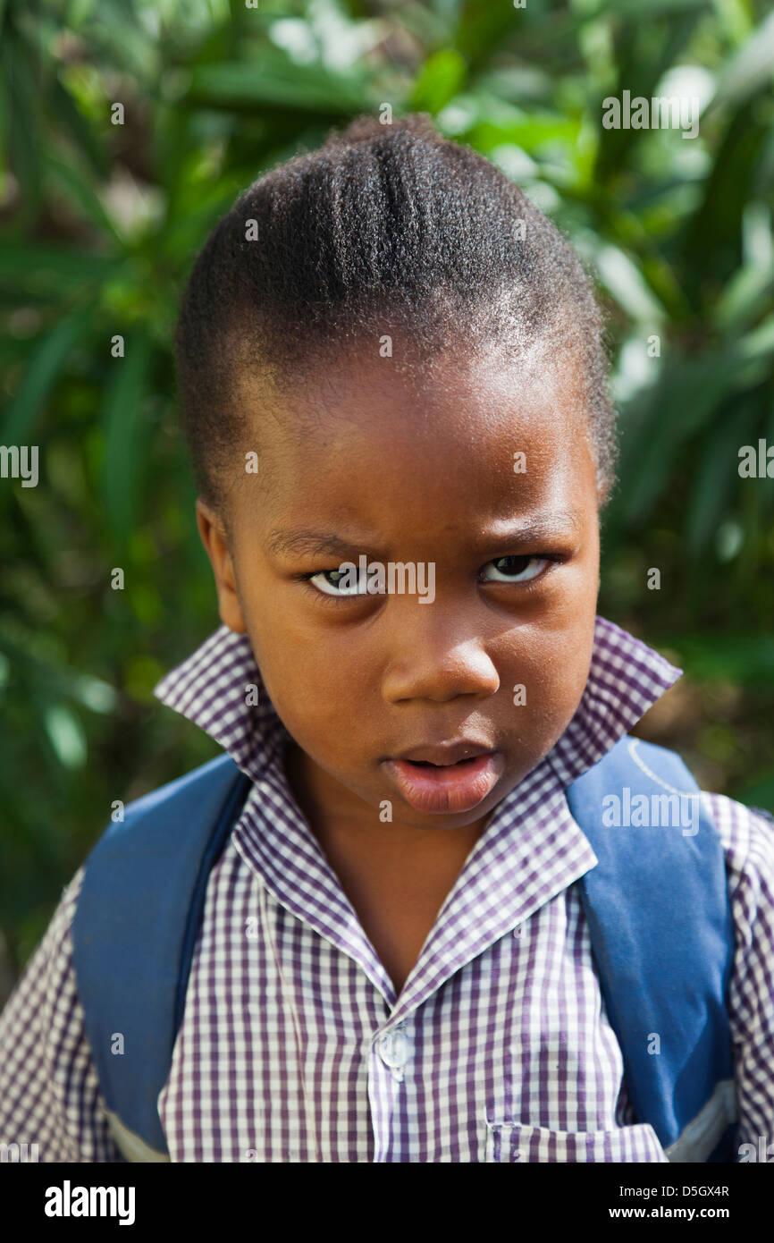 Dominica, Wesley, schoolboy. - Stock Image