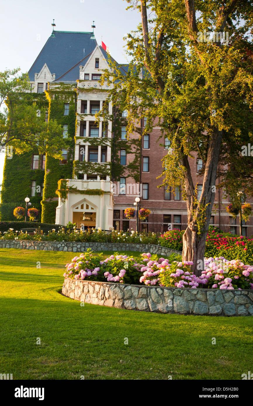 North America, Canada, Victoria, Empress Hotel & Gardens Stock Photo ...