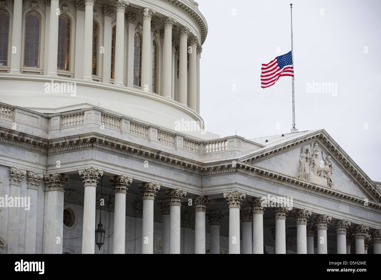 The U.S. Capitol stands in Washington on December 21, 2012. - Stock Image