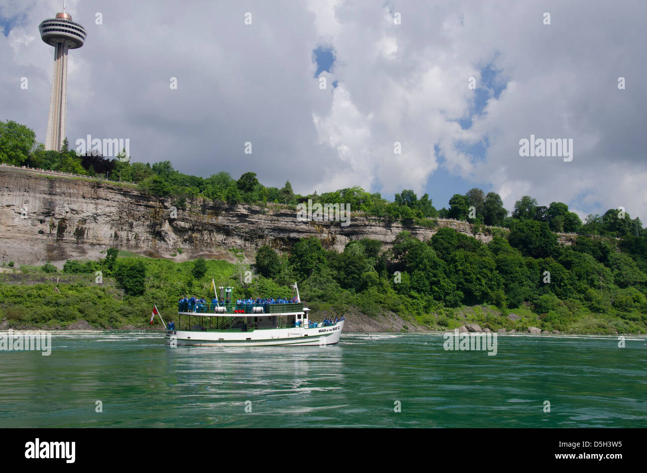 Canada, Ontario, Niagara Falls. Maid of the Mist sightseeing boat. - Stock Image