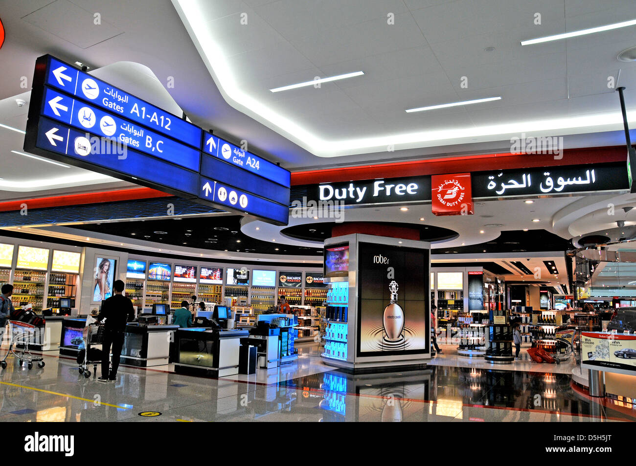 Dubai duty free shop Dubai international airport UAE - Stock Image