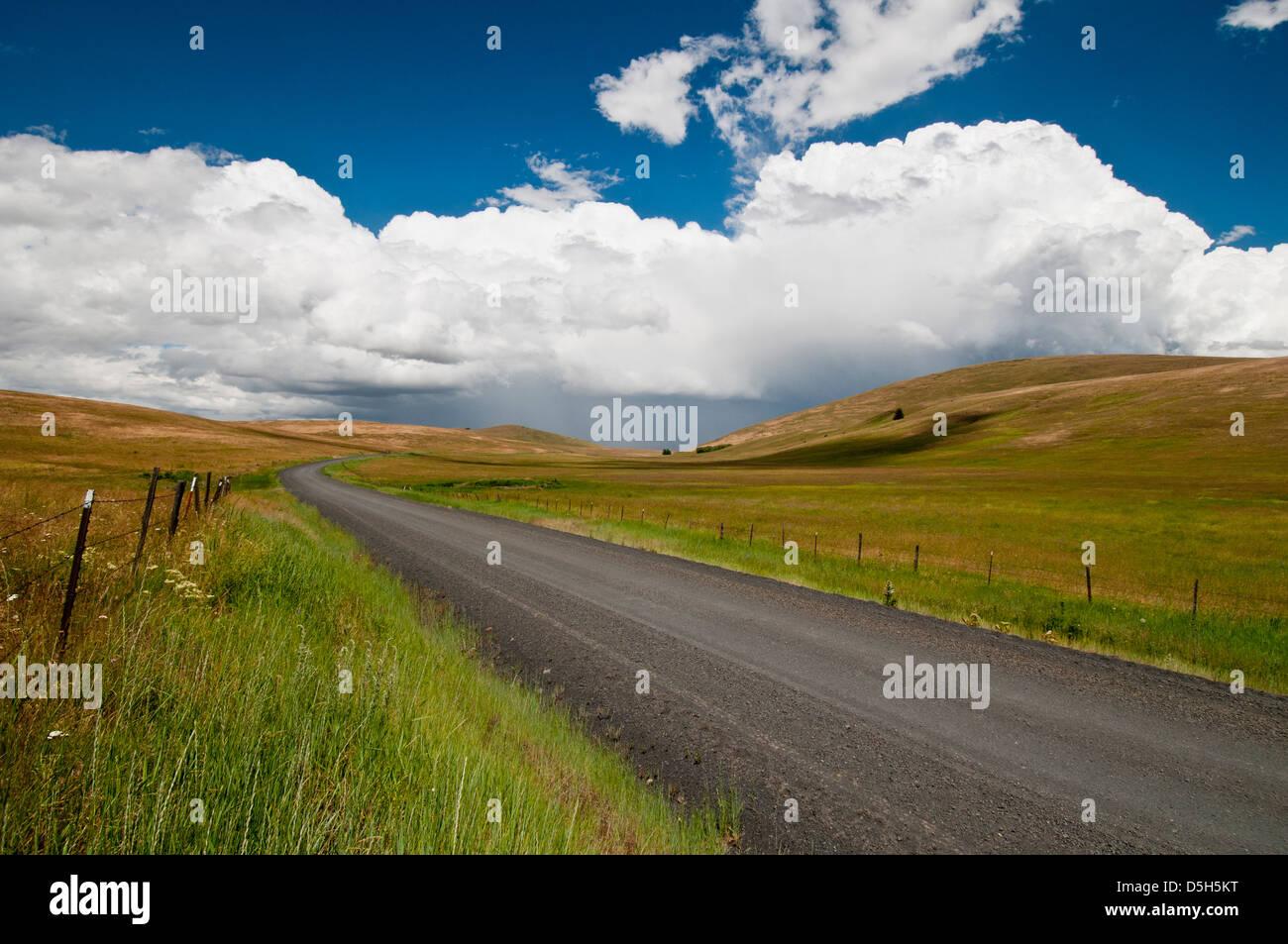 Zumwalt Prairie in NE Oregon - Stock Image