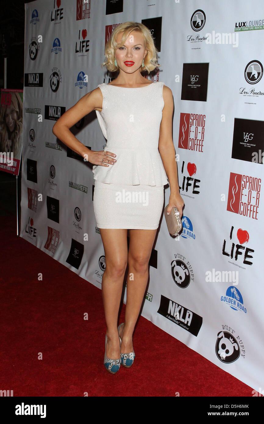 Los Angeles, California, U.S. April 2, 2013. Anya Monzikova  arrives  at  No Kill LA Charity Event on  April 2, - Stock Image