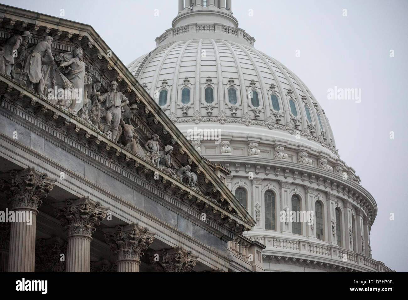 The U.S. Capitol Building stands in Washington. - Stock Image