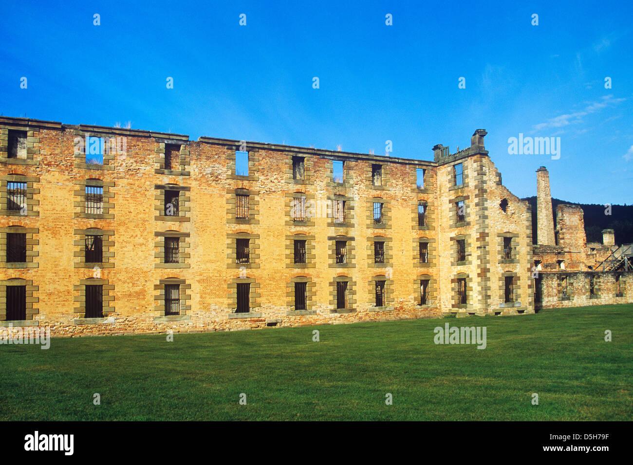Australia, Tasmania, Tasman Peninsula, Port Arthur Historic Convict Site, view of the convict Penitentiary - Stock Image