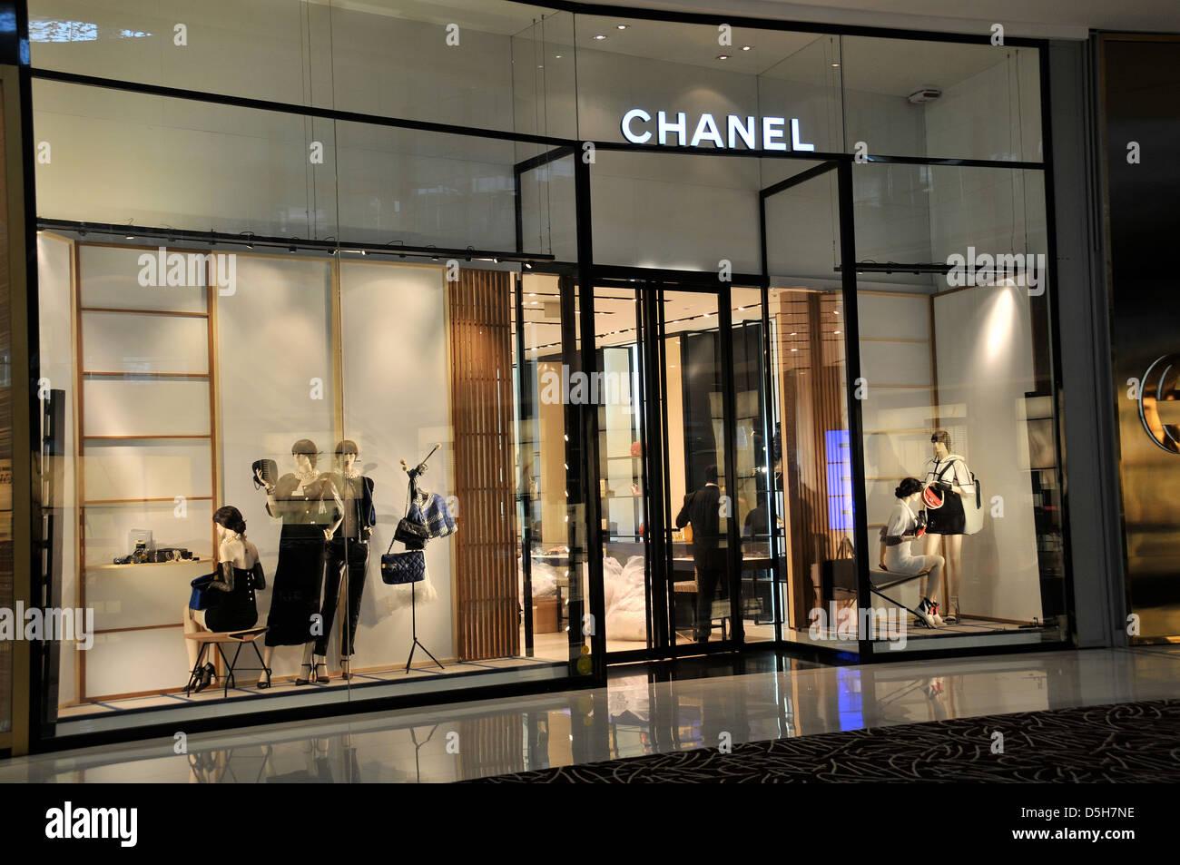 Chanel boutique Dubai mall Dubai UAE - Stock Image