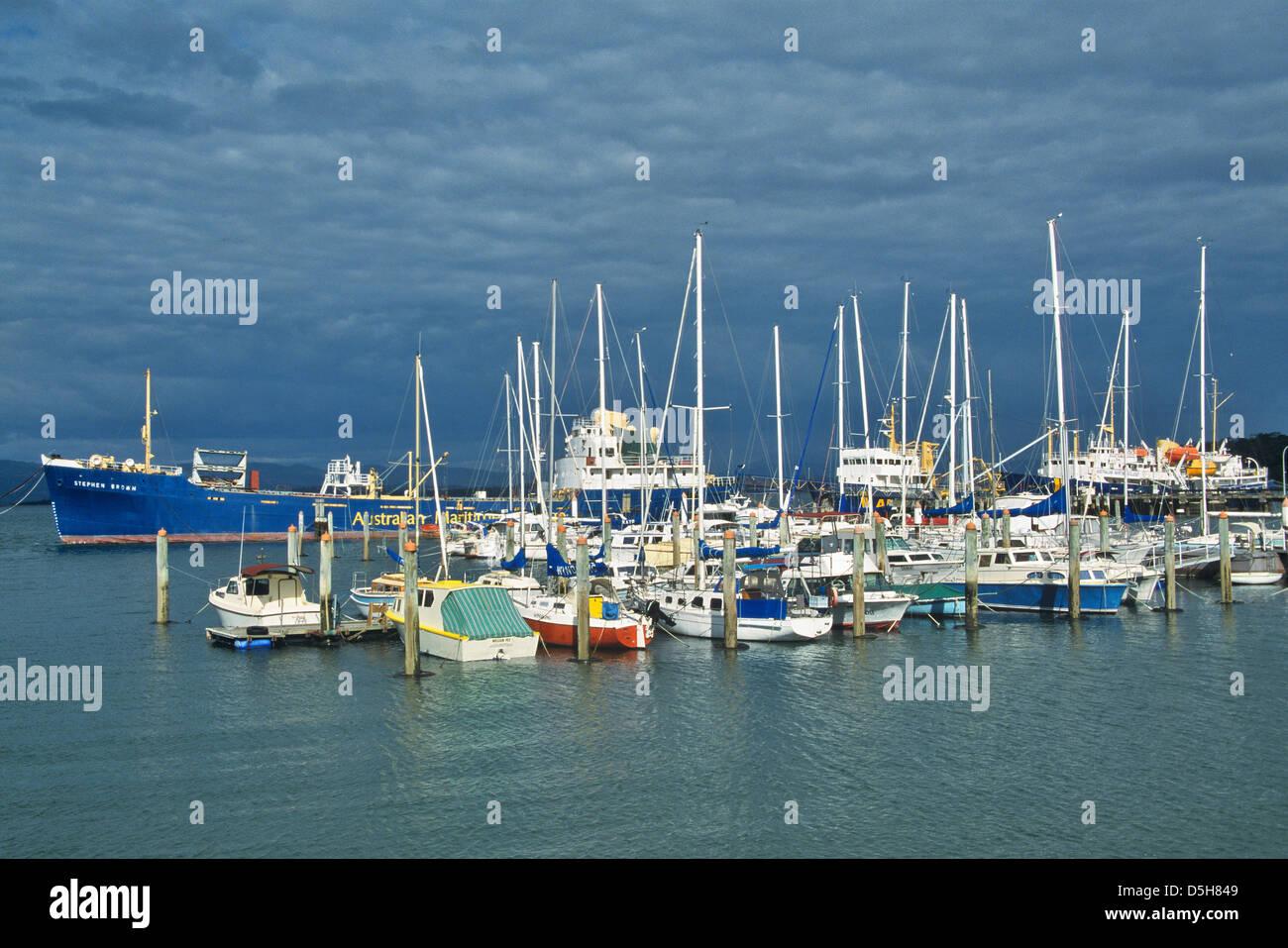 Australia, Northern Tasmania, River Tamar, Beauty Point marina Stock Photo