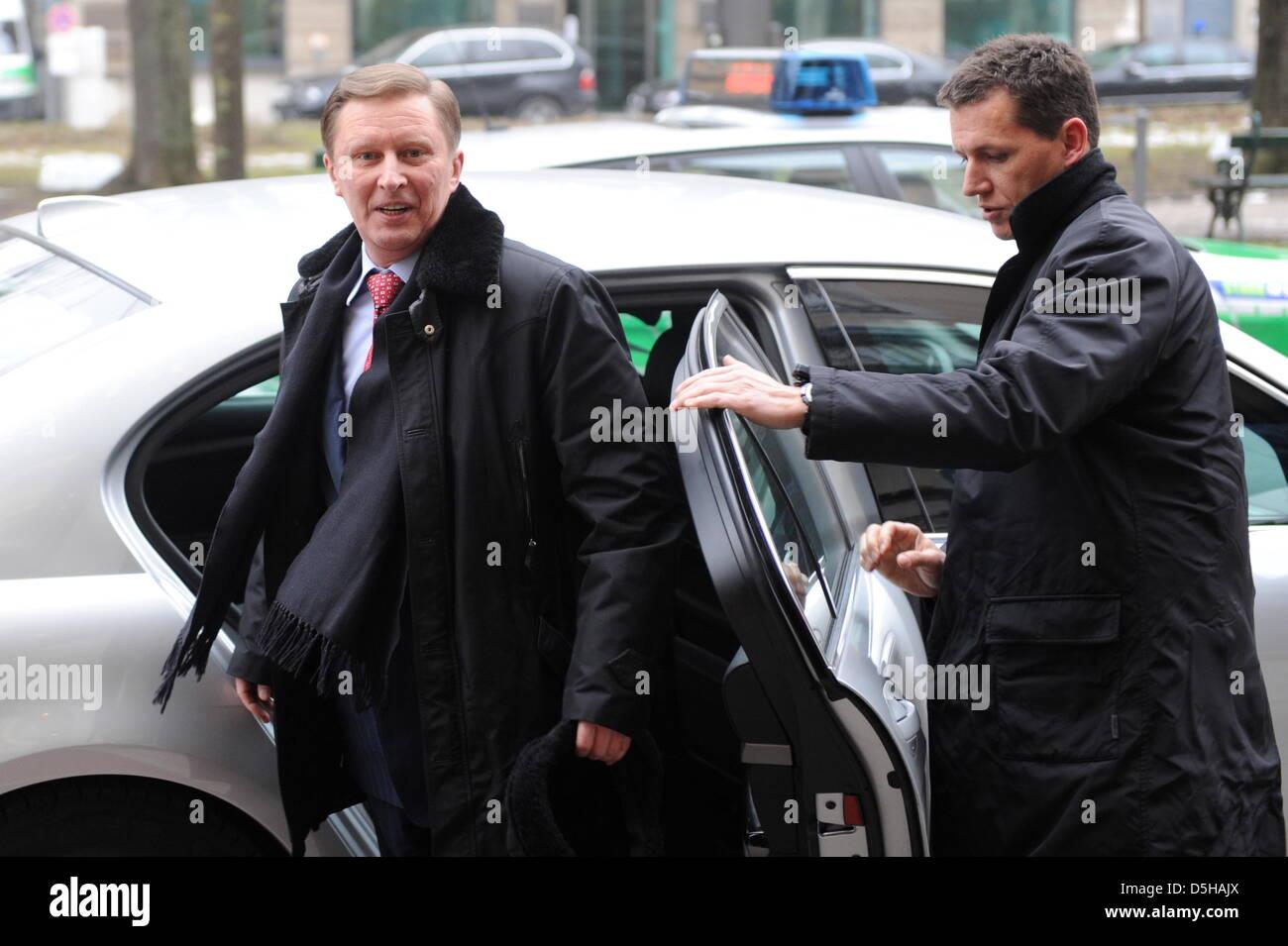 Der russische Vize-Premierminister, Sergej Iwanow, kommt am Freitag (05.02.2010) zur 46. Sicherheitskonferenz in - Stock Image