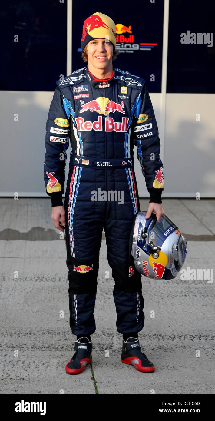 c16e972a German Formula One driver Sebastian Vettel of Red Bull presents the new Red  Bull Racing race car RB6 in Jerez de la Frontera, Spain, 10 February 2010.