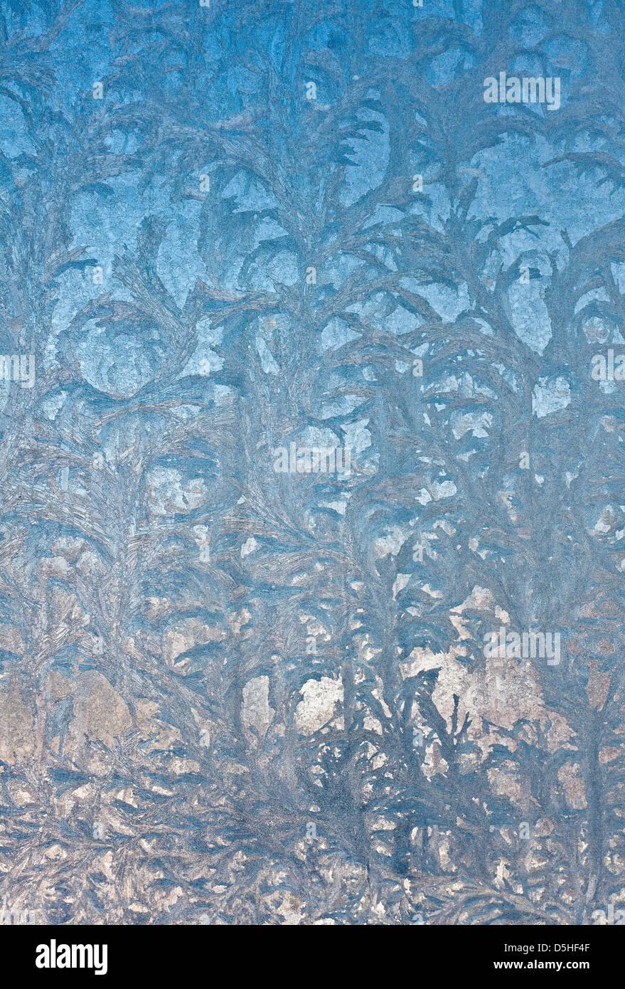 glass window texture. Ice Flowers On Window Glass, Wintertime - Stock Image Glass Texture