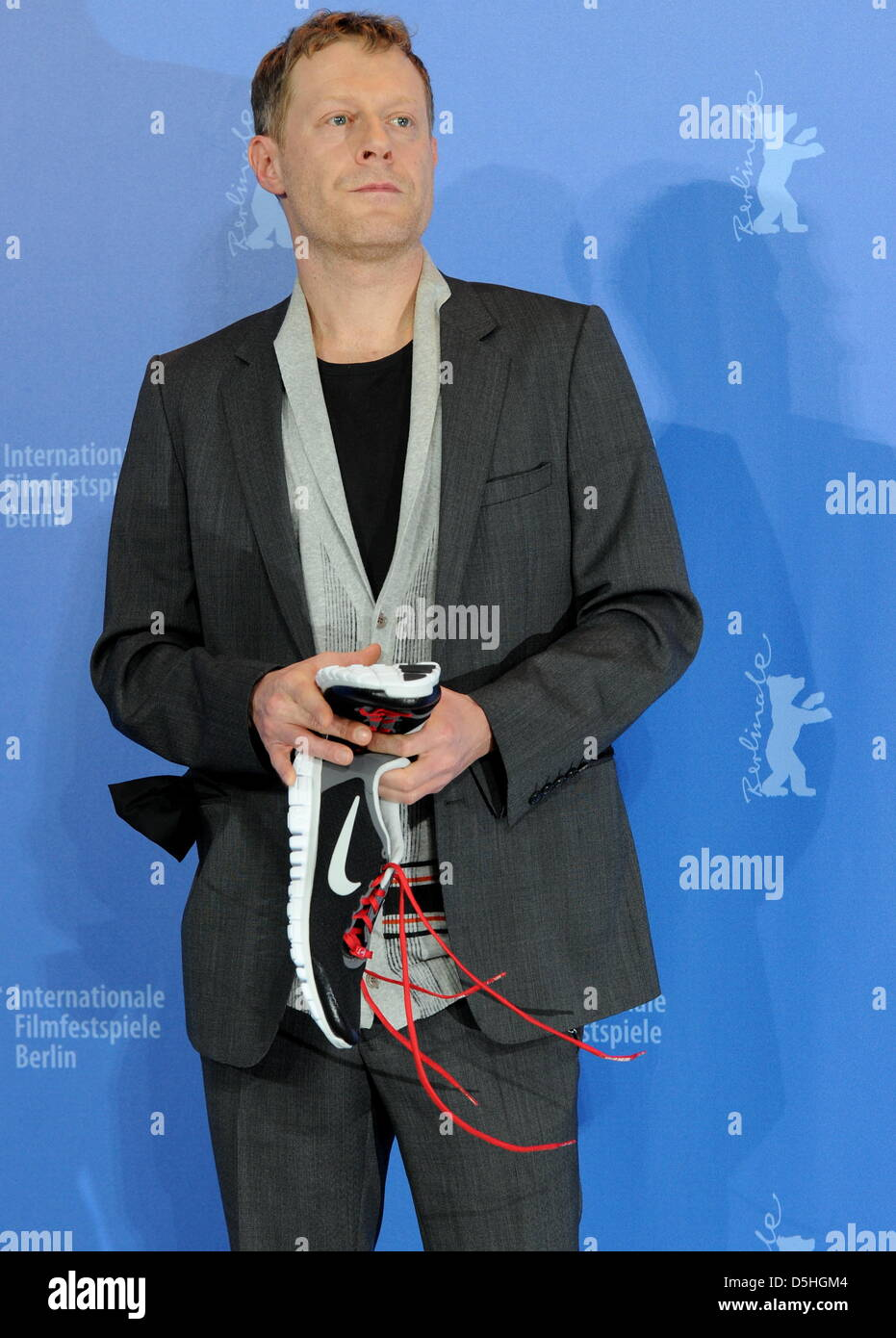 Austrian actor Andreas Lust poses during the photo call for the film 'The Robber' running in competition - Stock Image