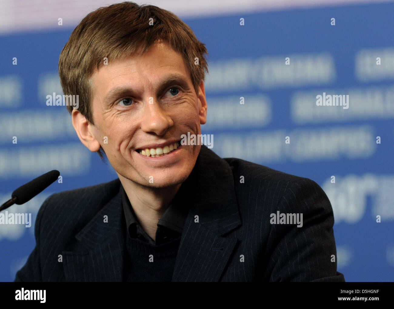Austrian actor Andreas Lust attends the press conference on the film 'The Robber' running in competition - Stock Image