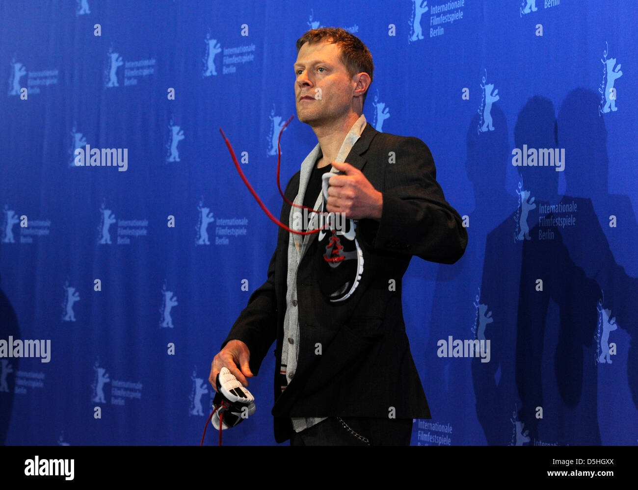 Austrian actor Andreas Lust attends the photocall of the movie 'The Robber' ('Der Räuber') - Stock Image