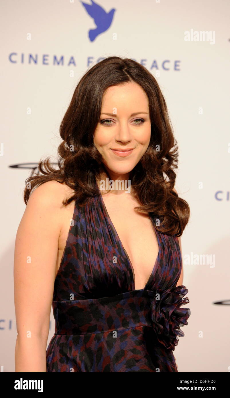 German singer Jasmin Wagner arrives for the Cinema for Peace charity gala in Berlin, Germany, Monday, 15 February - Stock Image