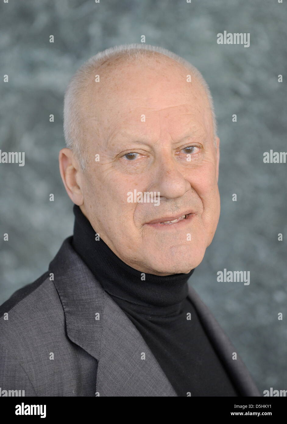 British star architect Norman Foster smiles in teh New National Gallery at the Berlinale Keynotes event within the - Stock Image