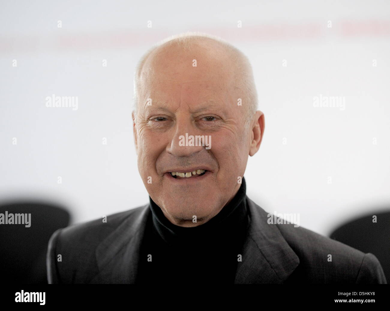 British star architect Norman Foster smiles in the New National Gallery at the Berlinale Keynotes event within the - Stock Image