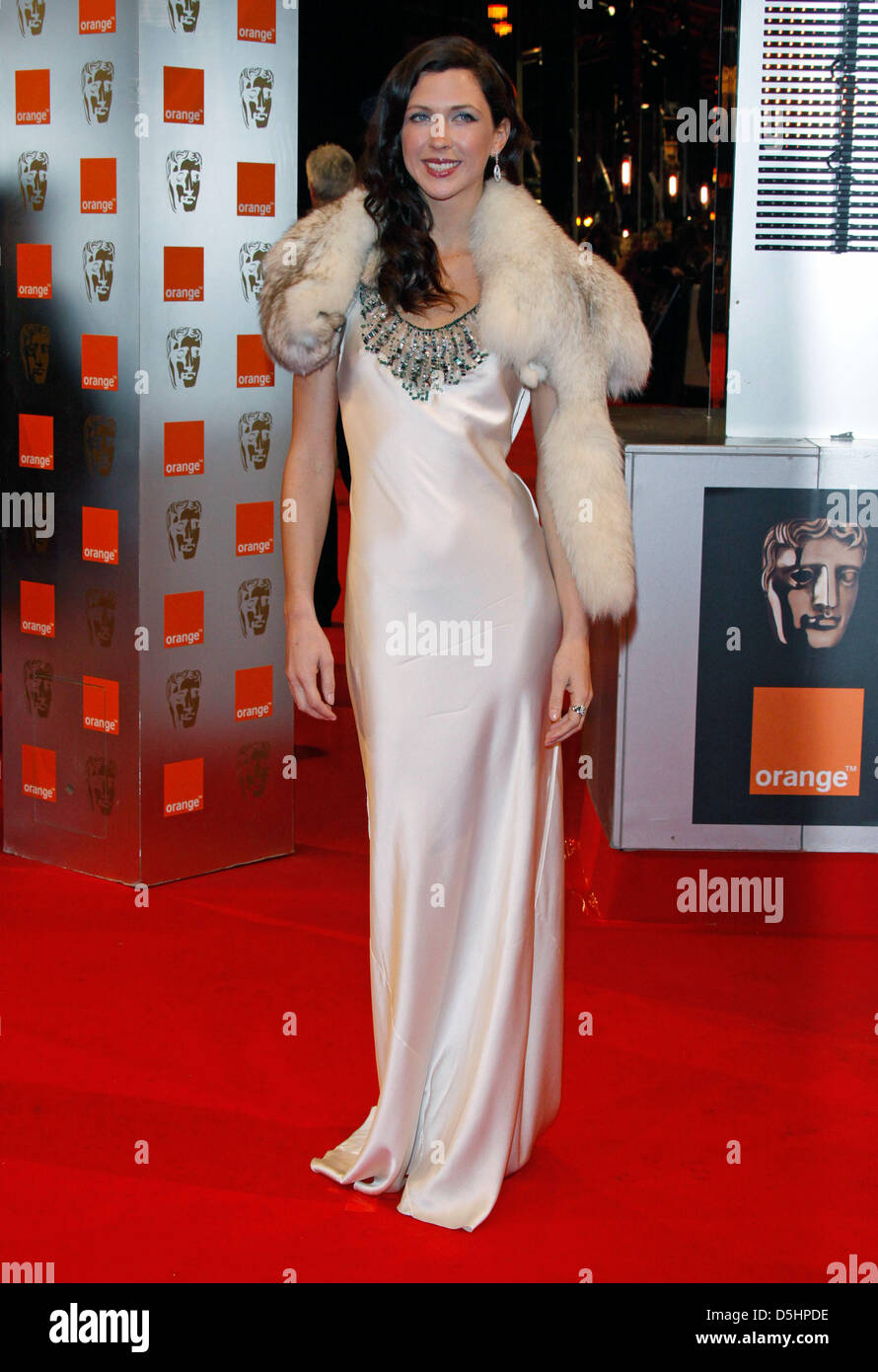 US actress Margot Stilley arrives for the 2010 Orange British Academy Film  Awards (BAFTA) f5e3e5364ea