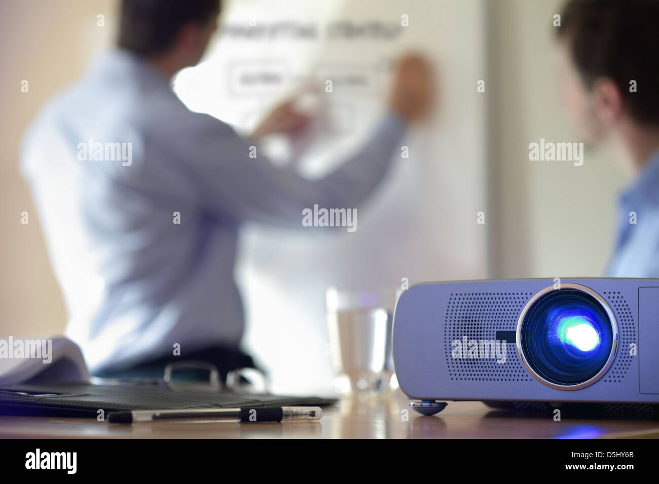 Presentation with lcd projector - Stock Image