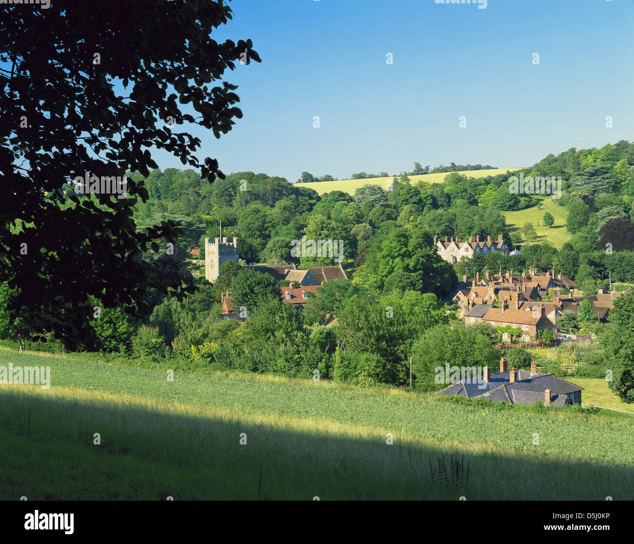 THE CHILTERNS: HAMBLEDEN: BUCKINGHAMSHIRE: ENGLAND - Stock Image