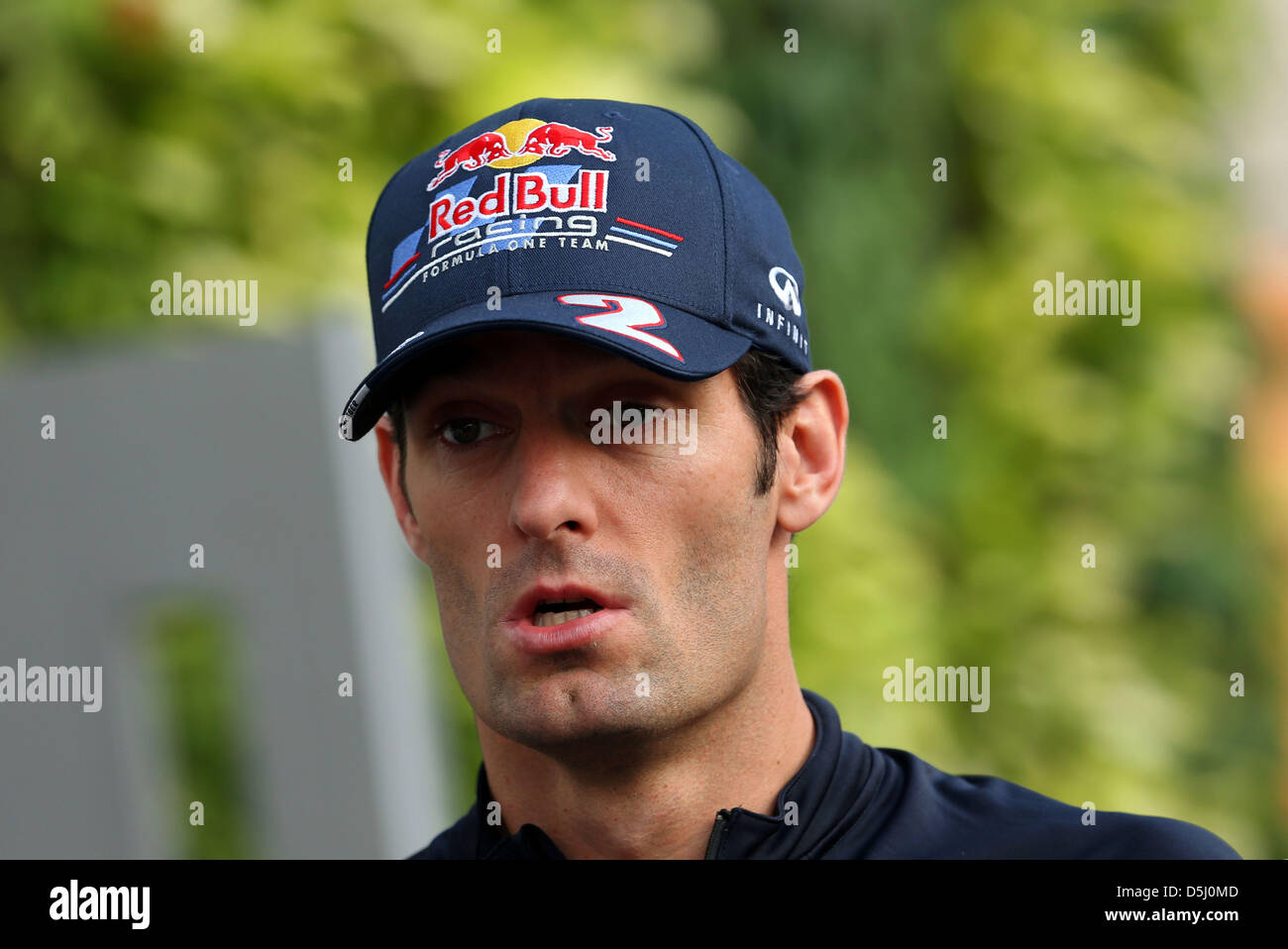 79e806eb5e2 Australian Formula One driver Mark Webber of Red Bull seen in the paddock  of the race track Marina-Bay-Street-Circuit