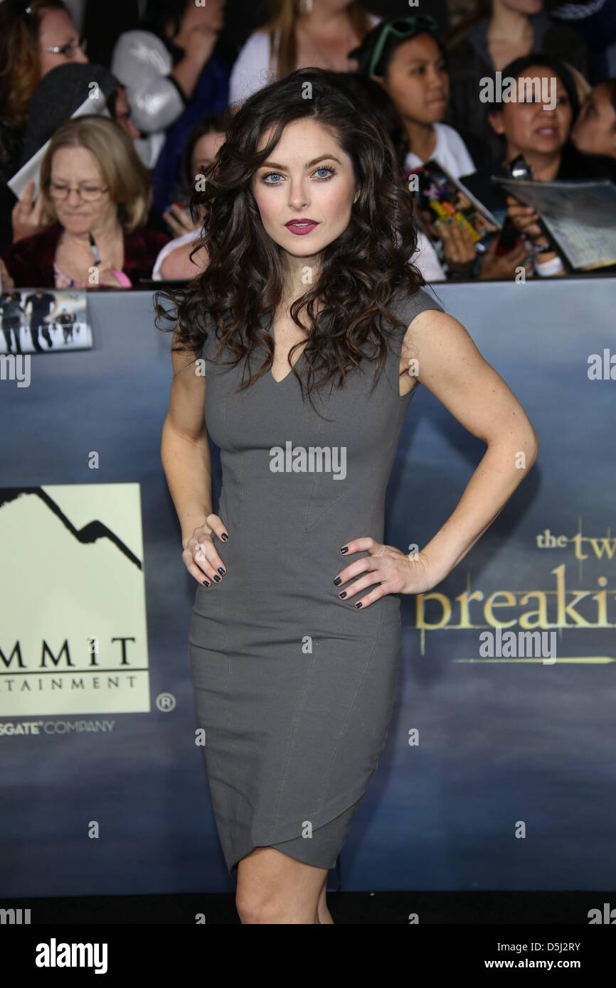 Actress Brooke Lyons Arrives At The World Premiere Of The Twilight