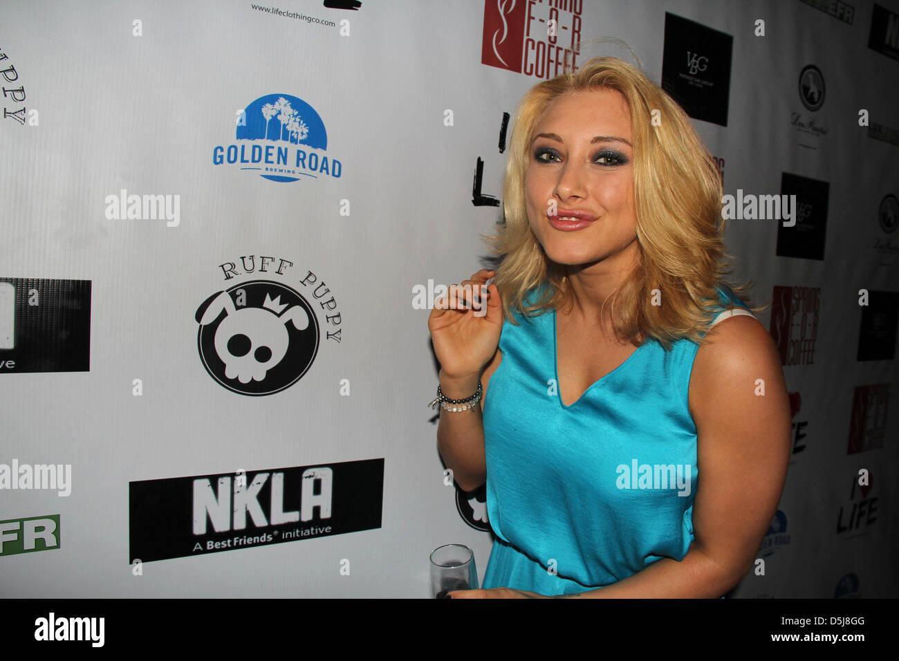 Hollywood, Callifornia, USA. 2nd April 2013. ''No Kill'' LA Charity Event Hosted By Jasmine Dustin - Stock Image