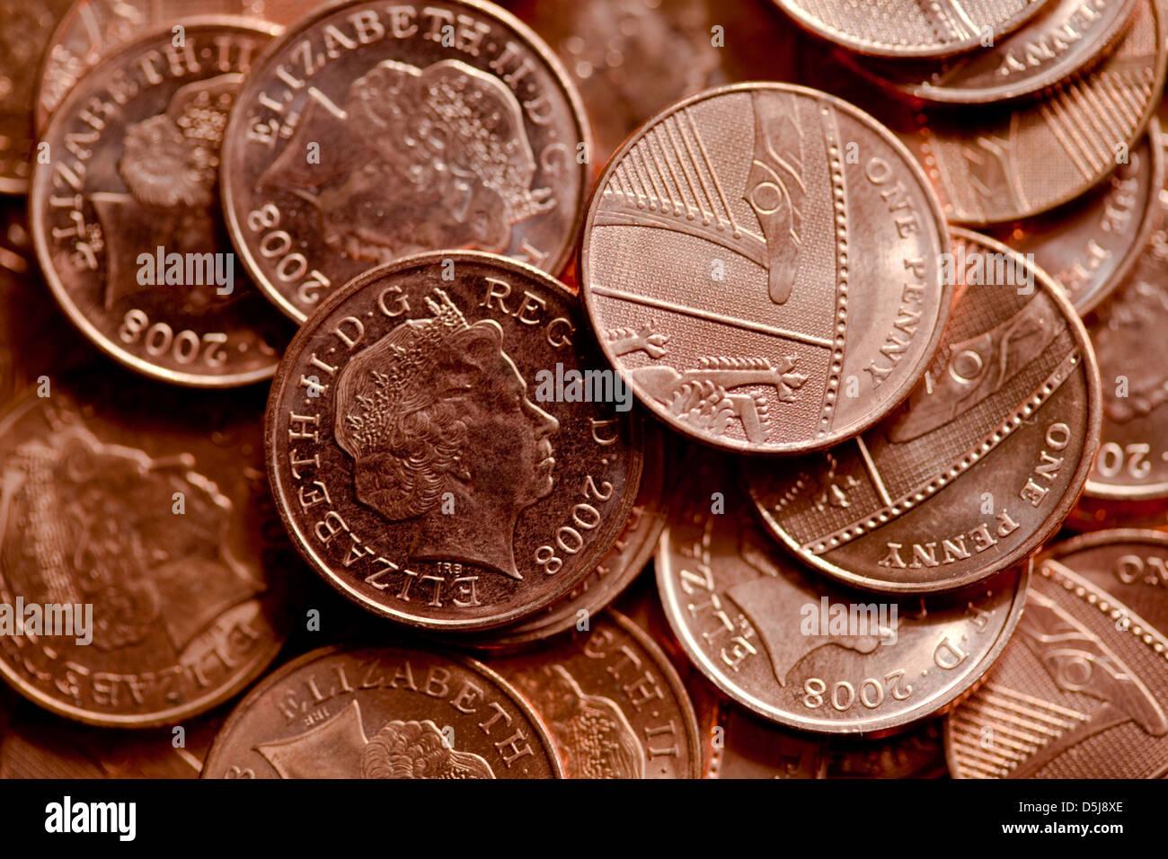 Bronze Coins Stock Photo: 55106534 - Alamy