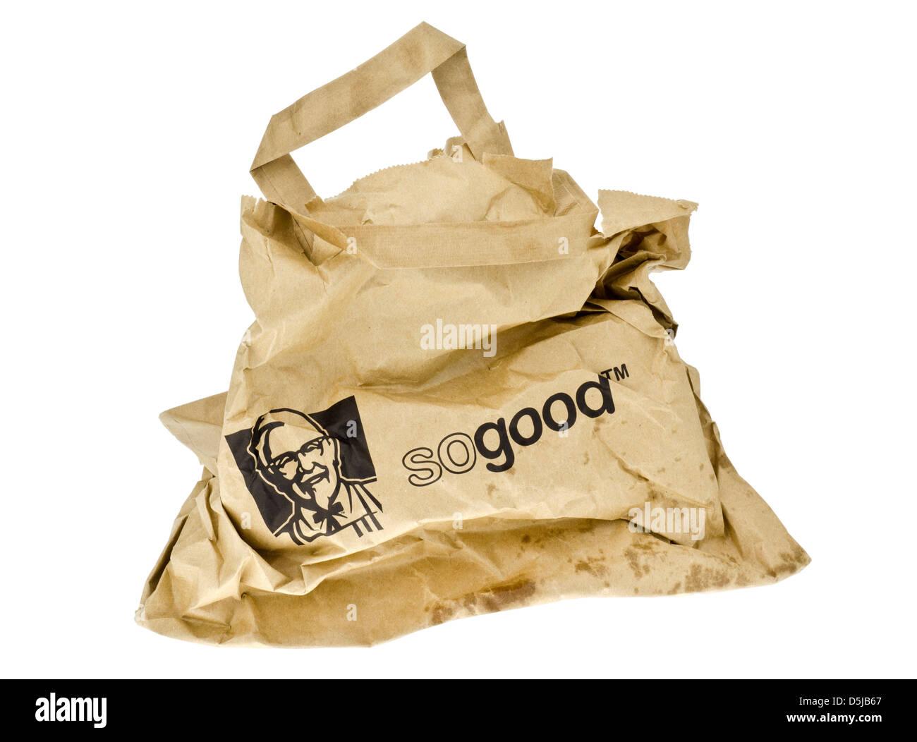 KFC Takeaway Paper Bag. - Stock Image