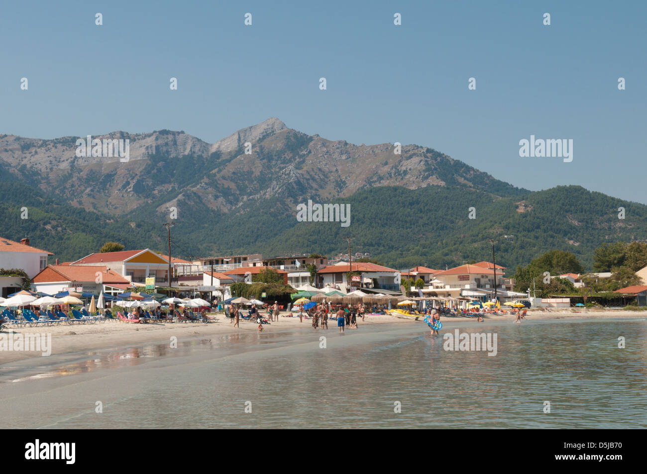 The Golden Coast The beach and resort hotels along the shore Stock Photo