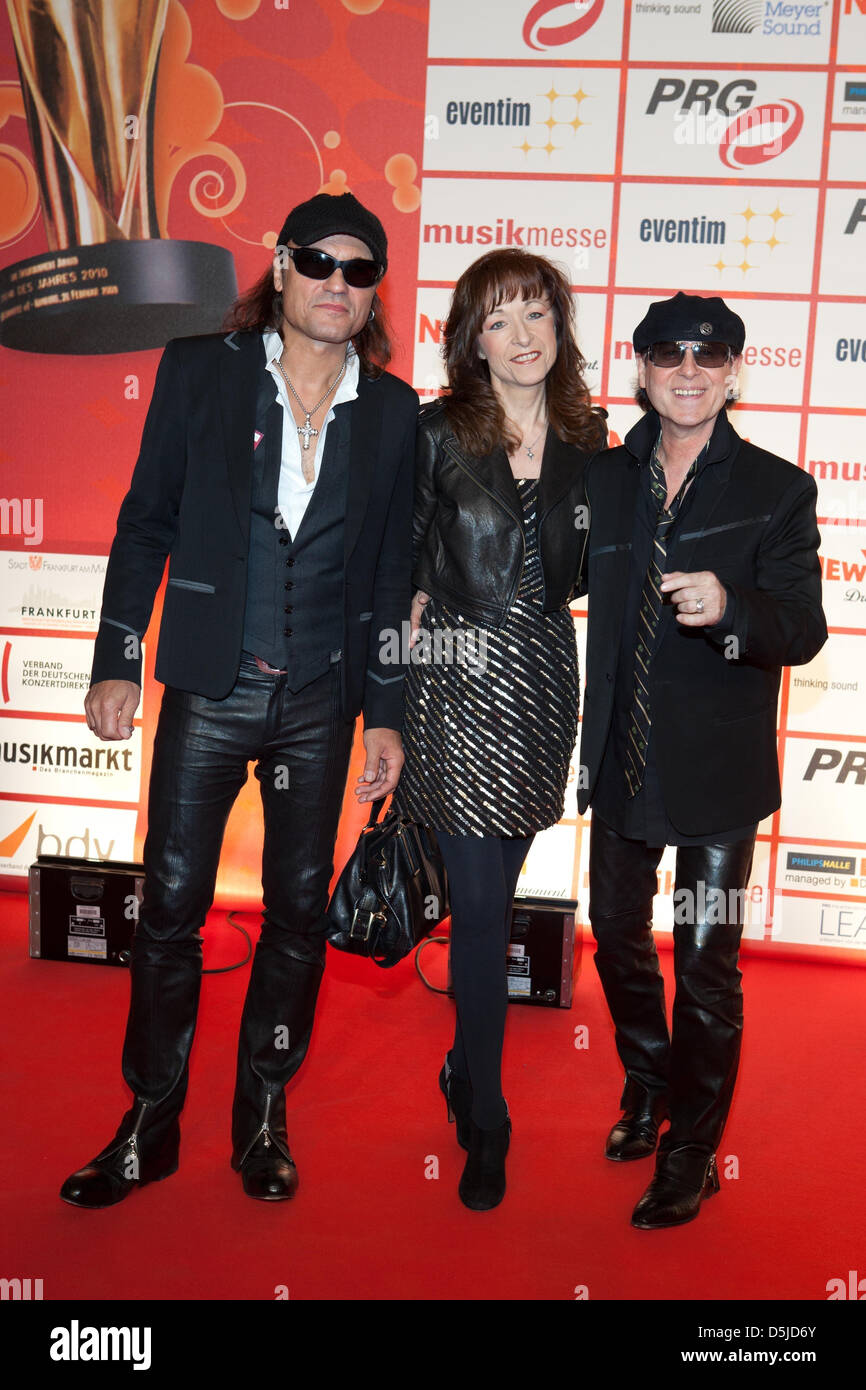 Scorpions at Lea Live Entertainment Awards at Festhalle. Frankfurt, Germany Stock Photo