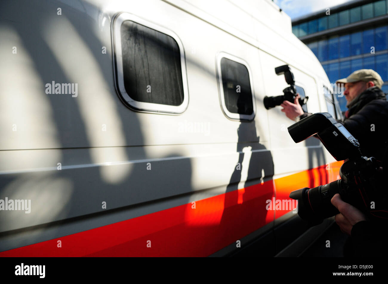 Press Photographer's. Stock Photo