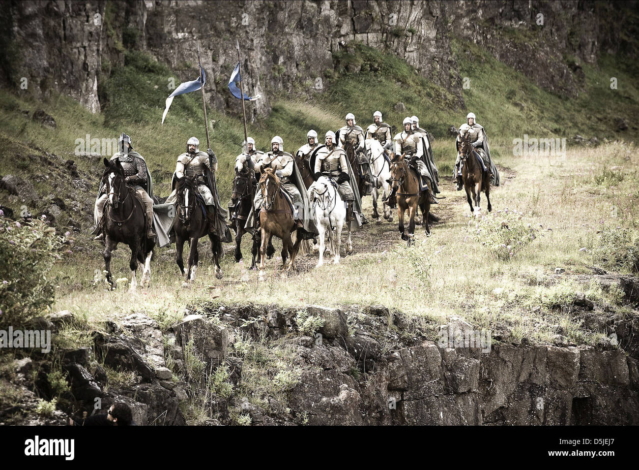 RIDERS GAME OF THRONES (2011) - Stock Image
