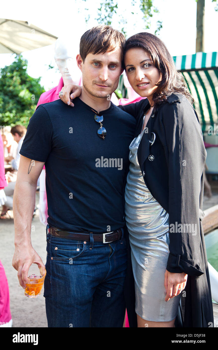 Celemens Schick and Minu Barati-Fischer at FIRMA fashion show at Berghain club during Mercedes-Benz Fashion Week - Stock Image