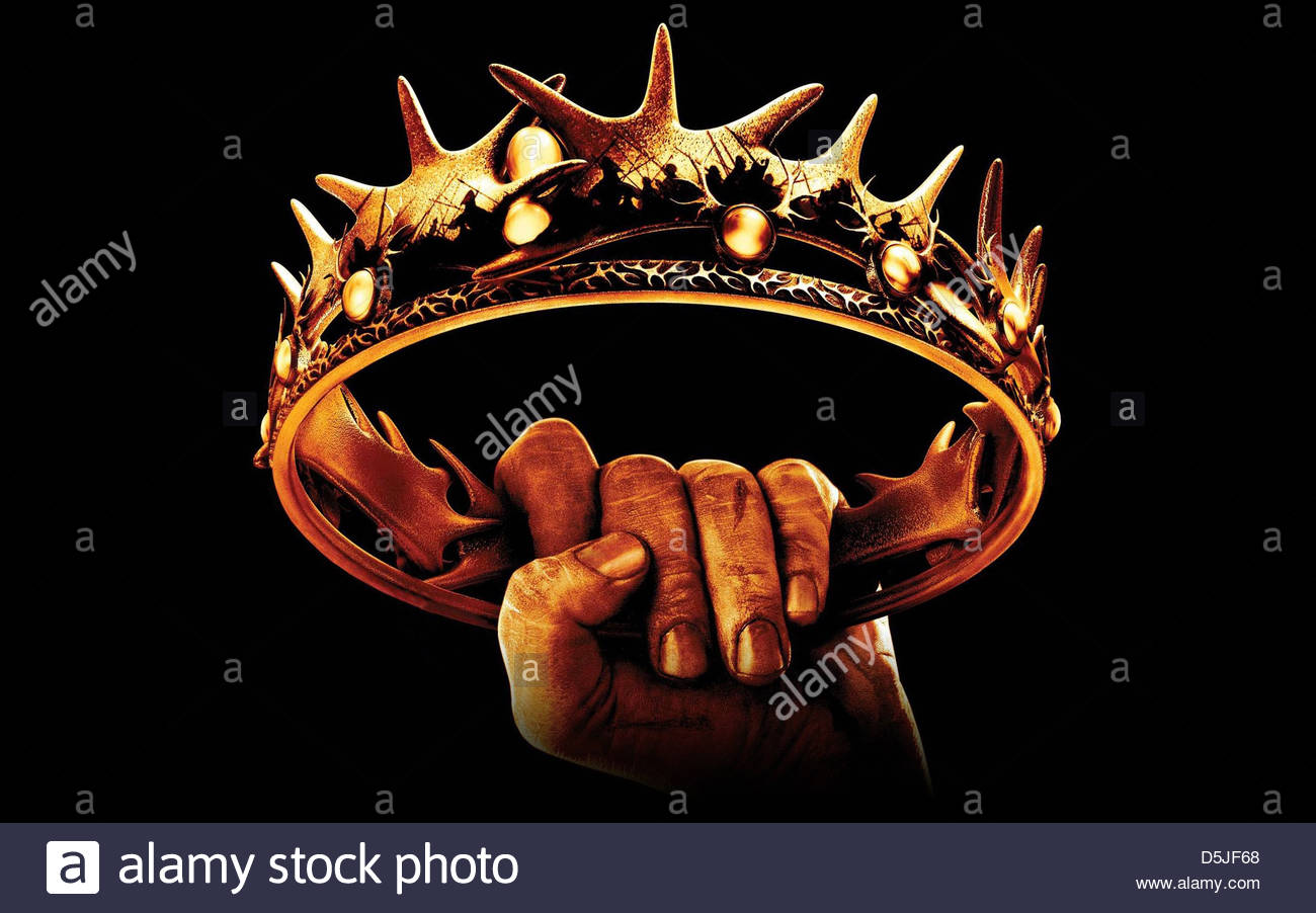 CROWN GAME OF THRONES (2011) - Stock Image
