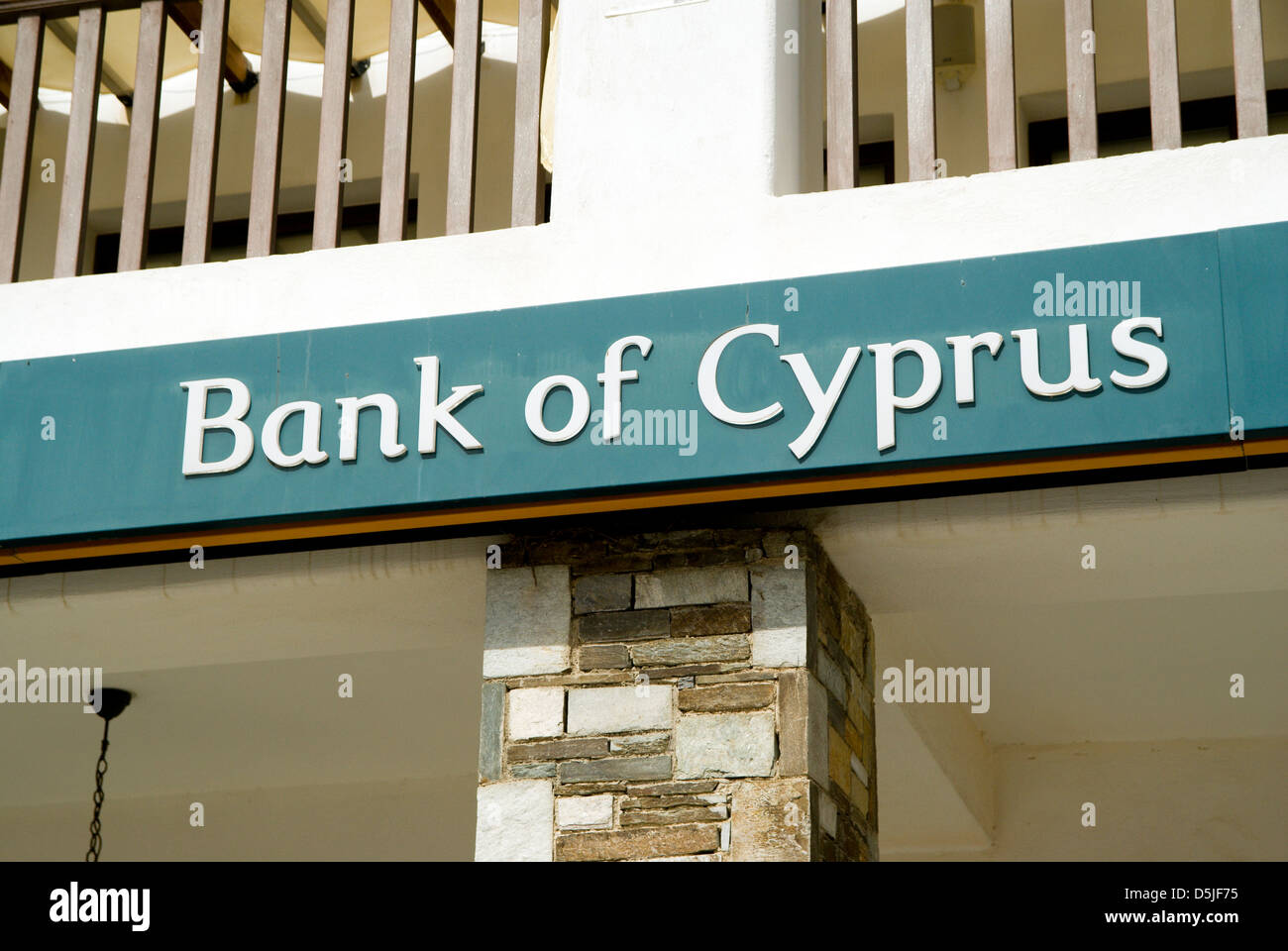 bank of cyprus paphos cyprus - Stock Image