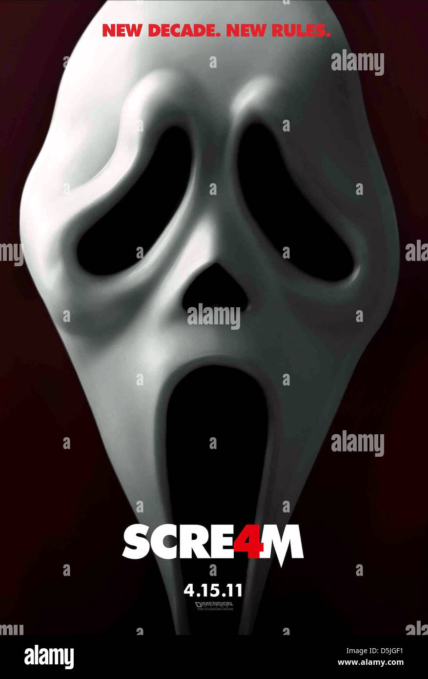 THE GHOSTFACE KILLER POSTER SCREAM 4 (2011 Stock Photo