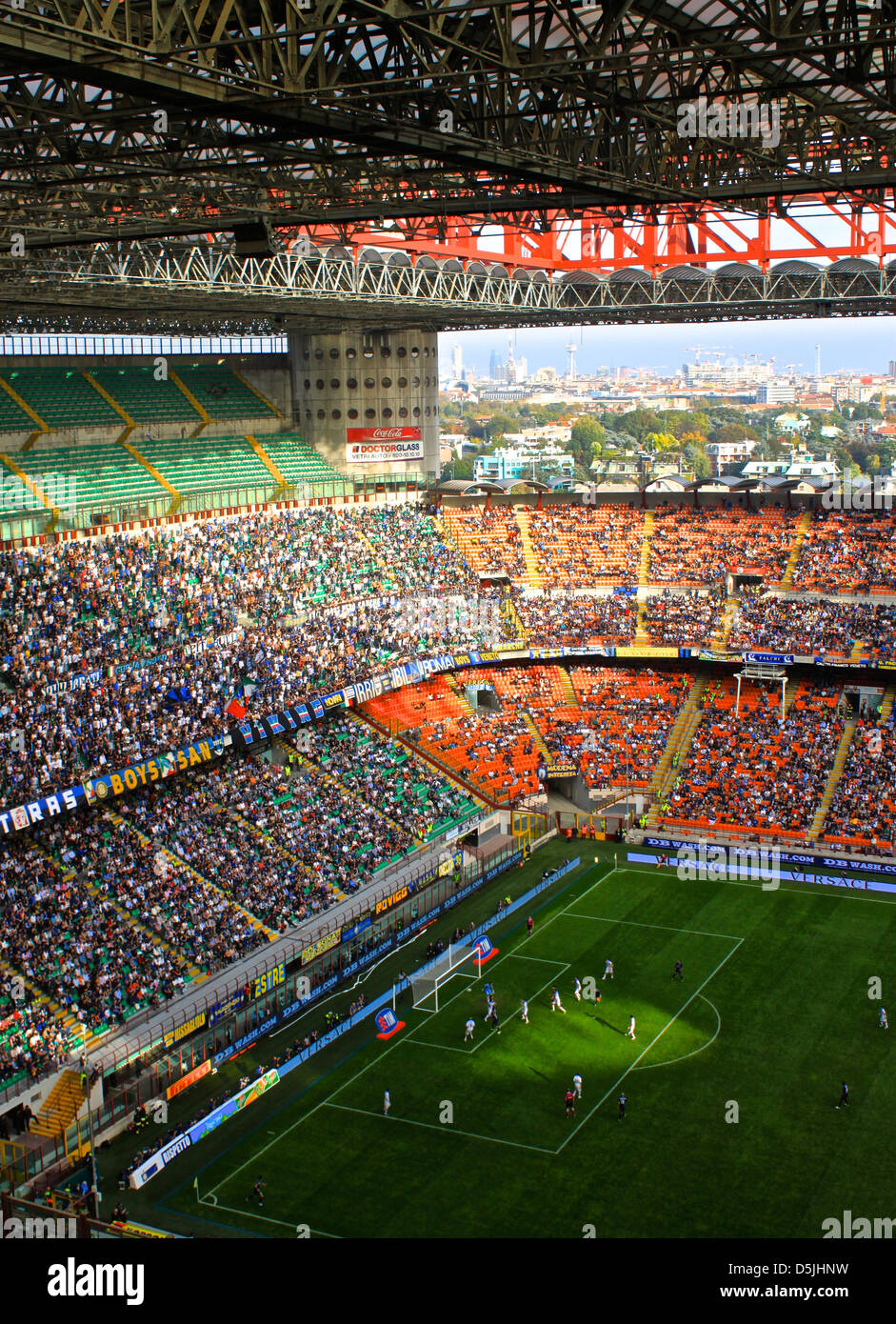 Action from the Serie A match between Inter Milan and Catania at the San Siro Stock Photo